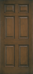 Architect Series 6 Panel Entry Door Solid Panel